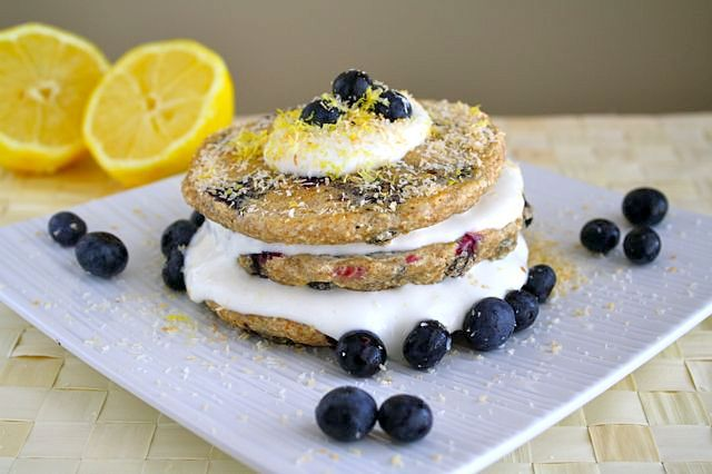 Lemon Blueberry Coconut Pancakes
